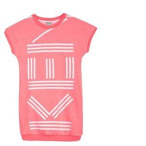 KENZO sweatshirt dress short sleeve pink 16